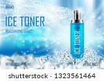 cooling ice toner with ice... | Shutterstock .eps vector #1323561464