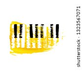piano keyboard hand drawn brush ... | Shutterstock .eps vector #1323567071