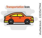 side of a flat  orange luxury... | Shutterstock .eps vector #1323567944