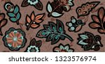 embroidery seamless pattern... | Shutterstock .eps vector #1323576974