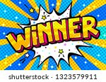 winner message word bubble in... | Shutterstock .eps vector #1323579911