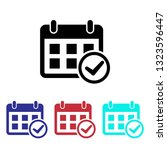 date check icon  | Shutterstock .eps vector #1323596447