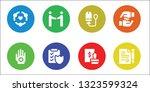 agreement icon set. 8 filled... | Shutterstock .eps vector #1323599324