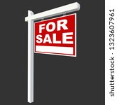 for sale sign vector... | Shutterstock .eps vector #1323607961