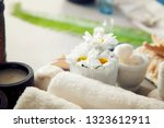 spa and wellness. fresh towels...   Shutterstock . vector #1323612911