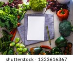 fresh vegetables flatlay...   Shutterstock . vector #1323616367