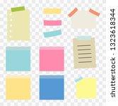 illustration of paper lists set.... | Shutterstock .eps vector #1323618344