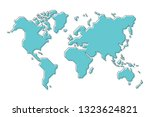 world map with simple modern... | Shutterstock .eps vector #1323624821