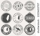 taiwan set of stamps. travel... | Shutterstock .eps vector #1323633707