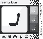 car seat flat set of buttons...   Shutterstock .eps vector #1323633797