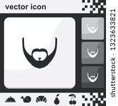 full beard style. beard and...   Shutterstock .eps vector #1323633821