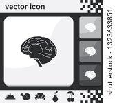 brain flat set of buttons...   Shutterstock .eps vector #1323633851
