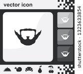 extended goatee style. beard...   Shutterstock .eps vector #1323633854