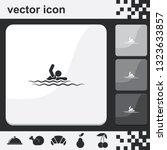 swim flat set of buttons vector ...   Shutterstock .eps vector #1323633857