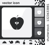 half an apple flat set of...   Shutterstock .eps vector #1323633881