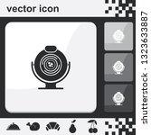 web camera flat set of buttons...   Shutterstock .eps vector #1323633887