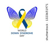 world down syndrome day on 21... | Shutterstock .eps vector #1323651971