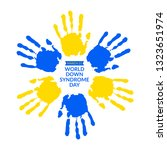 world down syndrome day on 21... | Shutterstock .eps vector #1323651974