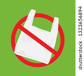 say no to plastic bags poster.... | Shutterstock .eps vector #1323656894