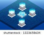 futuristic isometric element... | Shutterstock .eps vector #1323658634