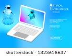 artificial intelligence mobile... | Shutterstock .eps vector #1323658637