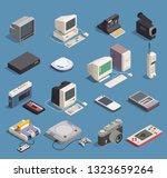 different retro gadgets... | Shutterstock .eps vector #1323659264