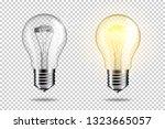 set of transparent realistic...   Shutterstock .eps vector #1323665057