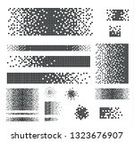 dissolved filled square dotted... | Shutterstock .eps vector #1323676907