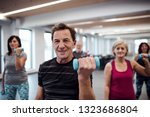 group of cheerful seniors in... | Shutterstock . vector #1323686804