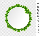 banner with clovers transparent ... | Shutterstock .eps vector #1323695111