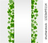 banner with clovers transparent ... | Shutterstock .eps vector #1323695114