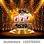 king slots 777 banner casino on ... | Shutterstock .eps vector #1323703331
