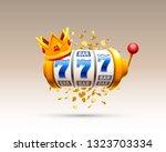 king slots 777 banner casino on ... | Shutterstock .eps vector #1323703334