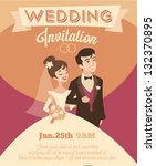 wedding invitation | Shutterstock .eps vector #132370895