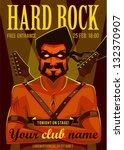 hard rock poster | Shutterstock .eps vector #132370907