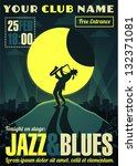 jazz and blues poster | Shutterstock .eps vector #132371081