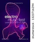 electronic fest. dynamic... | Shutterstock .eps vector #1323716294