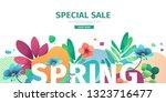 template design banner for... | Shutterstock .eps vector #1323716477