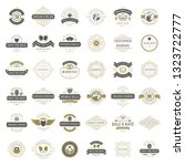 wedding titles and labels... | Shutterstock .eps vector #1323722777