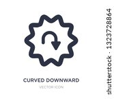 curved downward arrow icon on...