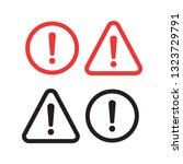 danger sign design. caution... | Shutterstock .eps vector #1323729791