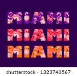 violet  pink and orange t shirt ... | Shutterstock . vector #1323743567