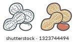 vector illustration of peanuts. ... | Shutterstock .eps vector #1323744494