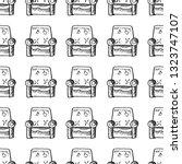 armchair seamless pattern... | Shutterstock .eps vector #1323747107
