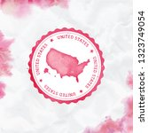united states watercolor round...   Shutterstock .eps vector #1323749054