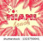 t shirt print with hot pink... | Shutterstock . vector #1323750041