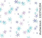 snowflakes. seamless winter... | Shutterstock .eps vector #1323761204