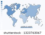 world map blue gradient color... | Shutterstock .eps vector #1323763067