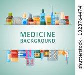 medicine background banner... | Shutterstock .eps vector #1323764474