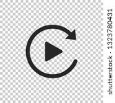 video play button like simple... | Shutterstock .eps vector #1323780431